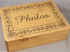 Personalized, Engraved Wooden Box 9 x 12 x 3