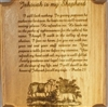 Laser Carved Wooden Plaque with Scripture- Psalm 23