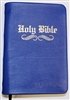 Royal Blue Bible and Reasoning.  Gold gilded edge,  Imperfections