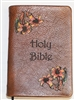 Premier Rich Brown Bible Painted Flowers