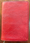 BARGAIN-26 Deluxe Pocket Bible Slip on Cover Cherry