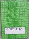 VINYL-PATTERN SLIP-ON GOD'S LOVE BOOK