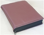 ZIPPERED LEATHER SLIP-ON LARGE BIBLE COVER