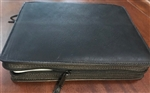 SLIP-ON LARGE BIBLE COVER - OIL LEATHER W/ ZIPPER