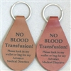 No Blood Key Chain Leather Tooled